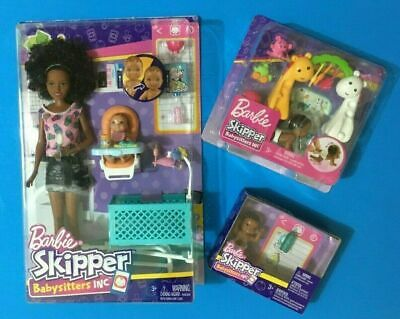 Barbie Skipper Babysitters Inc Nikki Doll 2 Playsets with 3 Babies FHY91