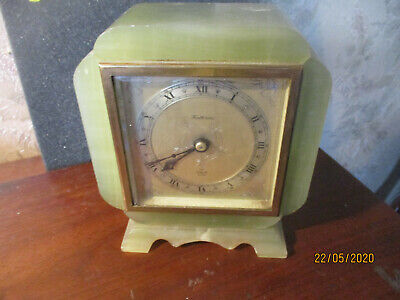 art deco Elliott 8 Day Oak Cased Mantel Clock  ./fatorini c1930