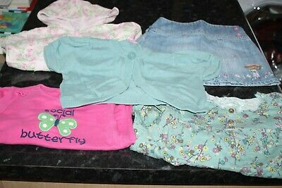 Girls Outfit Skirt 2 Tops 1 Cardigan 1 Hoodie  Age 2-3 Years Next Gymboree