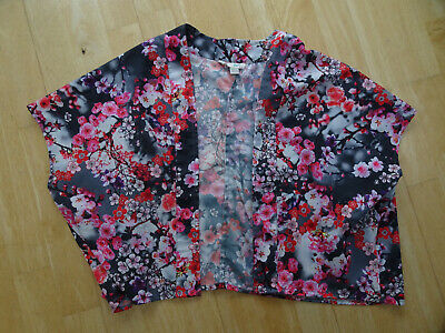 YUMI GIRL girls pretty floral kimono jacket AGE 7 - 8 YEARS EXCELLENT COND