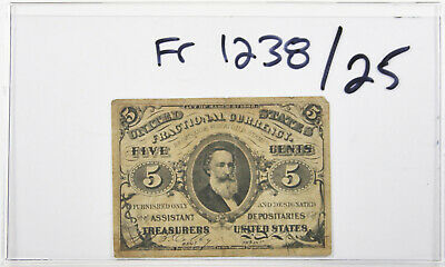 FR 1238 Fractional Currency 3rd Series Clark 5 Cents 5c