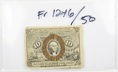FR 1246 Fractional Currency 2nd Series Washington 10 Cents 10c