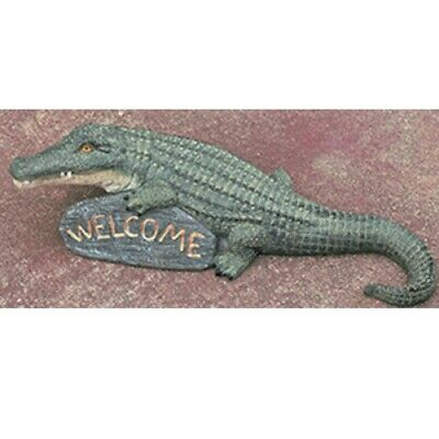 Alligator Welcome Sign Figurine 30 Inches Long