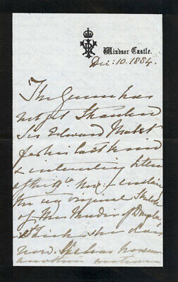 Queen Victoria (Great Britain) - Third Person Autograph Letter 12/10/1884