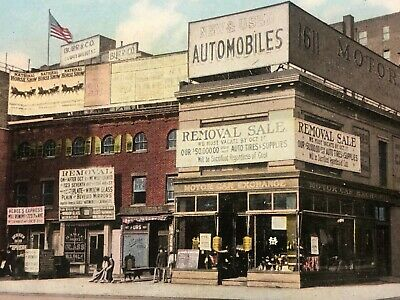 New York City Motor Car Exchange Advertising Picture Card Early 1900s