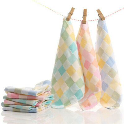Children Cleaning Tool Wipe Cloth Infant Handkerchief  Baby Bibs lattice Towel