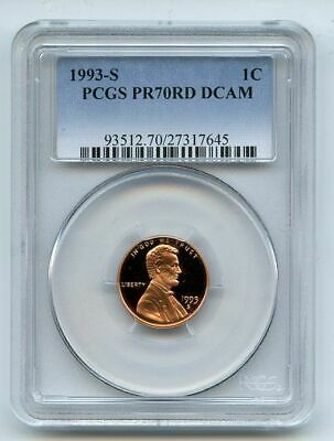 1993 S 1C Lincoln Cent Proof PCGS PR70DCAM