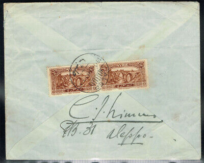Syria 1926 Cover Sent To Colonel H. Birchall In England