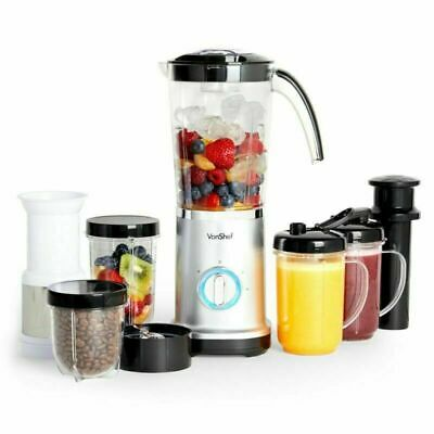 4-in-1 Food Blender Smoothie Maker Fruit Juicer Coffee Grinder Ice Crusher 380W