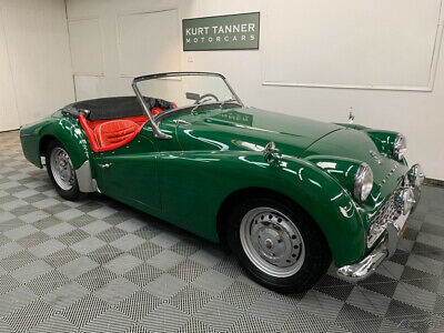 1959 Triumph TR3 BLACK TOP, TONNEAU, TOP BOOT. 4-SPEED 1959 TRIUMPH TR3A ROADSTER. GREEN / RED. EXCELLENT, OLDER, GROUND-UP RESTORATION