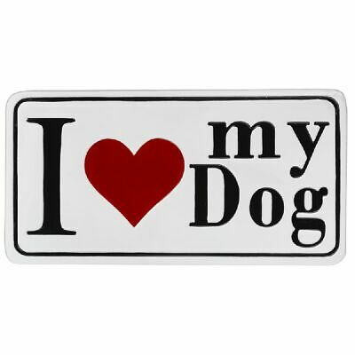 I Love My Dog Enamel Wall Decoration 19.75 x 10.25 Inch New