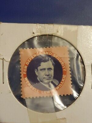 For Defence and Security Wendell Lewis Willkie Political Campaign Stamp