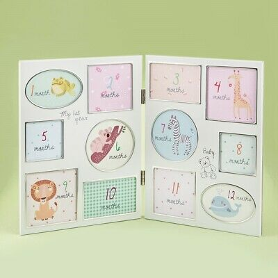 My First Year Lovely Baby Collage Picture Frame New