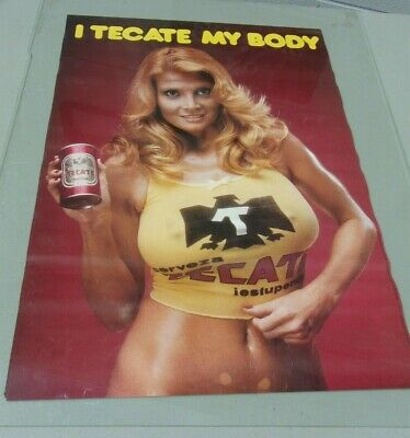 "Vintage 1980's 1990's ? Beer Poster ""I TEGATE MY BODY"". Large 24"" X 17"""