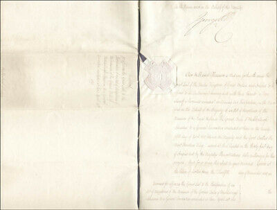 King George Iv (Great Britain) - Document Signed 11/12/1818 With Co-Signers