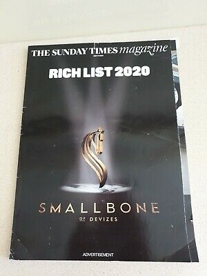 The Sunday Times 2020 Rich List Magazine May 17 2020.