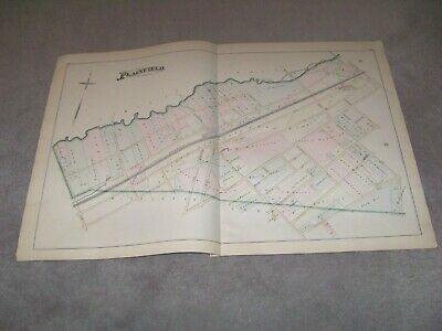1882 Map Part of Plainfield 4 NJ J E Robinson & R H Pidgeon A H Mueller