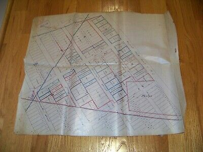 1800's Map Elizabeth NJ James S. Vosseller P. Lot Owners Pennington West Grand