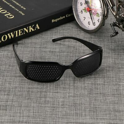 Black Vision Care Pin hole Eye Exercise Eyeglasses Pinhole Glasses Eyesight