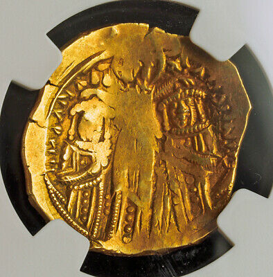 1325, Byzantine Empire, Andronicus II & III. Gold Hyperpyron Coin. NGC AU 2/5!