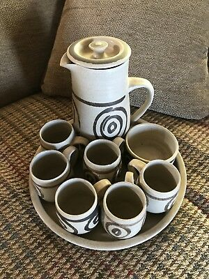 Coffee Set With Tray - Stoneware Wales