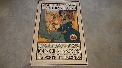 Vintage Brighton Poster Wallpapers & Decorations John Gilkes & Son.conrad-Leigh