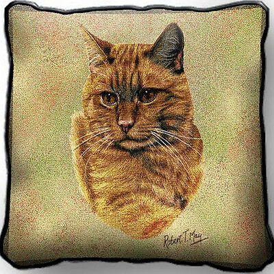 "17"" x 17"" Pillow Cover - Red Tabby Cat 1952"