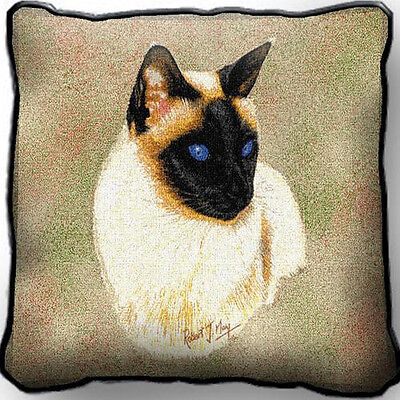 "17"" x 17"" Pillow Cover - Siamese Cat 1954"