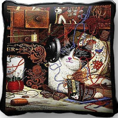 "17"" x 17"" Pillow Cover - Maggie the Messmaker 976"