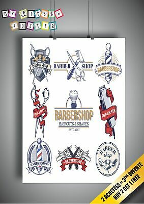Barbershop-Tool-Outil-Affiche-Poster-Wall-Art