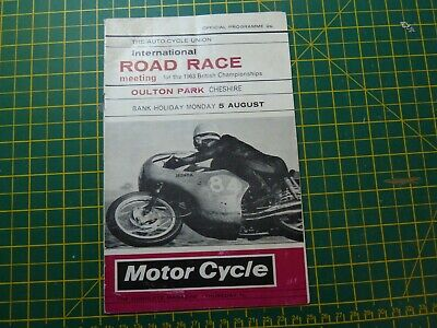 1963 Summer Bank Holiday Oulton Park Programme Minter Read Ivy