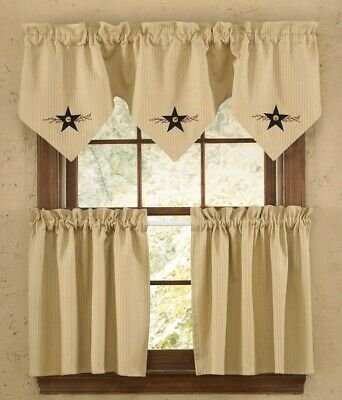 Star Vine Lined Triple Point Valance