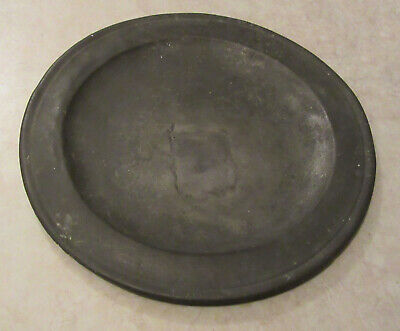 Collectable Boot Hill Tavern pewter ware 1777 with continued-use tin repair