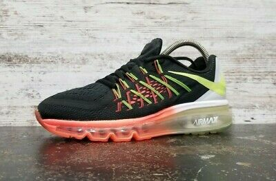Nike Air Max 2015 GS Voltage Green /& White Running Shoes Sz 5Y NEW 705457 300