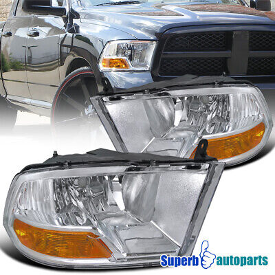 For 2009-2018 Dodge Ram 1500 2500 3500 Headlight Head Lamps Pair
