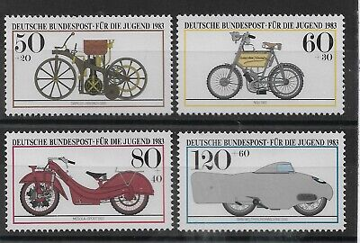 Germany 1983 Youth Welfare Motor Cycles MNH Set