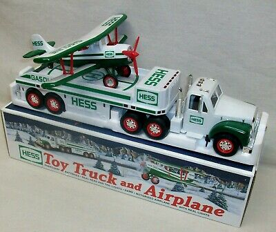 """Hess 2002 """"Toy Truck and Airplane"""" In Box (Display Only, Not A Toy) Perfect Cond"""