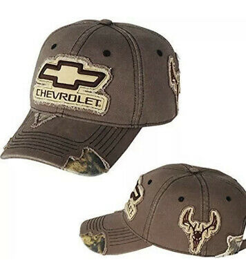 Chevrolet Frayed Camo Hat By Robert White A0FC3 New