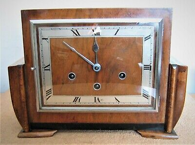 'Art Deco' Westminster Mantel Clock by Haller