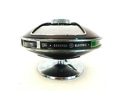 VINTAGE 1970s OLD FLYING SAUCER HIPPIE ANTIQUE CLEAR PLASTIC AM SPACE AGE RADIO