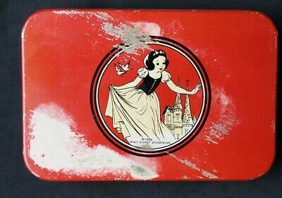 Vintage Disney Snow White Tin 1938