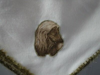 Afghan Hound Fleece Lap Throw Blanket