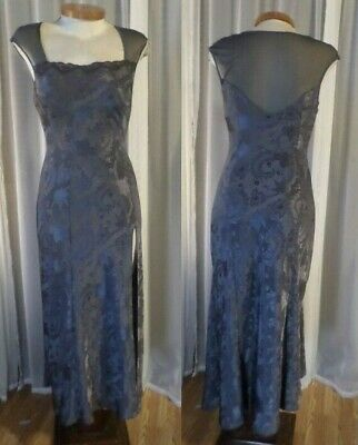 Woman Long Nightgown Small Victoria's Secret Dark Gray Gown Lady S Lace VTG Slit