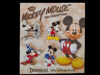 Disney Pin Mickey Mouse Booster Collection 4 Pin Set  Willie Sorcerer Modern Pie