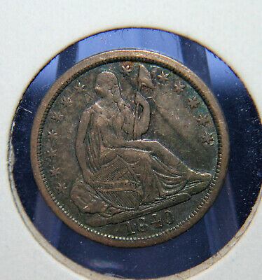 1840 Seated Liberty Half Dime  **No Drapery** Excellent XF!  ID #ET511