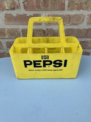 Vintage PEPSI Yellow Plastic 8 Pack Carrier