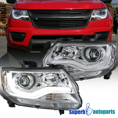For 2015-2020 Chevy Colorado LED DRL Projector Headlights & Signal & Side Marker