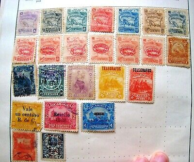 Unchecked Selection Of Nicaragua 1897.+ Officials & Telegraphs.nice!    Lot#131