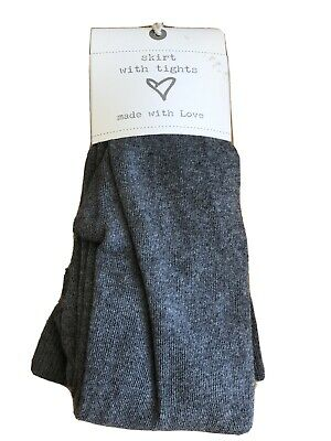 BNWT Girls Grey Tights By Next Age 14 Years