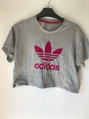 Girls Cropped Tshirt By Adidas Age 11-12 Years